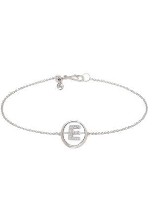 Annoushka 18kt white gold diamond Initial E bracelet
