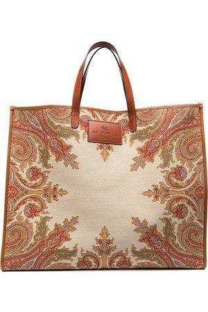 Etro Large paisley print tote bag - Neutrals
