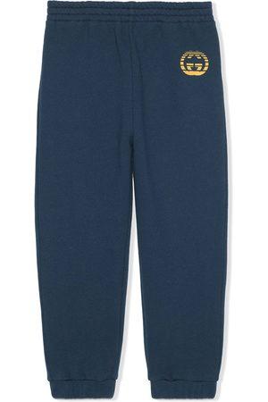 Gucci Kids Logo-print cotton track pants