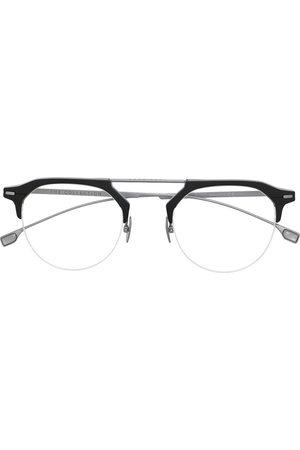 HUGO BOSS Men Sunglasses - Two-tone round-frame glasses