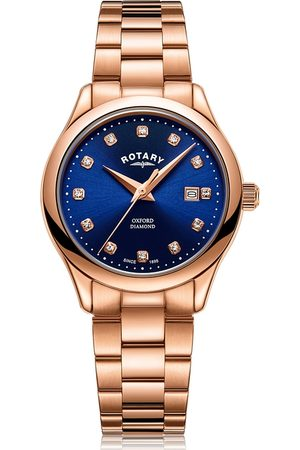 Rotary Watches Women Watches - Rotary Womens Rose Pvd Oxford Watch