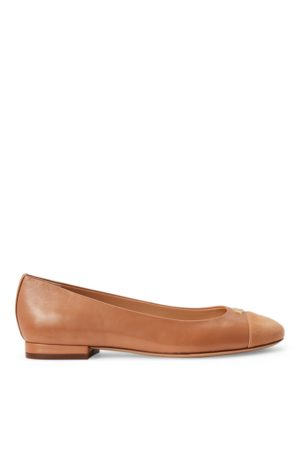 Lauren by Ralph Lauren Women Flat Shoes - Gaines Nappa Leather Flat
