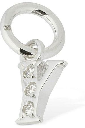"""Dodo Women 18kt White Gold """"y"""" Charm W/ Diamond"""