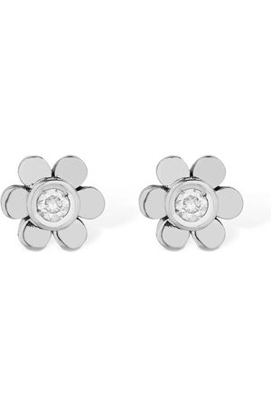 VANZI Women Earrings - 18kt Gold & Diamond Flower Earrings