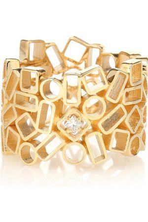 Suzanne Kalan Mosaic Eternity 18kt yellow and diamond ring