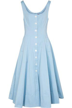 Staud Women Maxi Dresses - Alix cotton-blend faille maxi dress