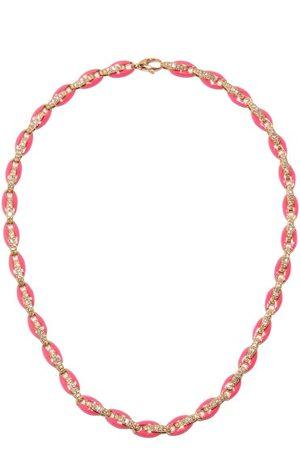 Melissa Kaye Ada Diamond, Enamel & 18kt Rose-gold Necklace - Womens - Multi