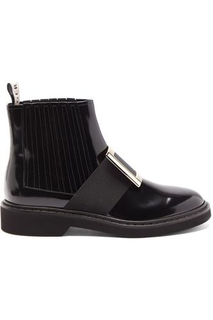Roger Vivier Women Ankle Boots - Rangers Buckled Patent-leather Chelsea Boots - Womens