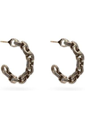 PATCHARAVIPA Diamond & 18kt - Chain Hoop Earrings - Womens