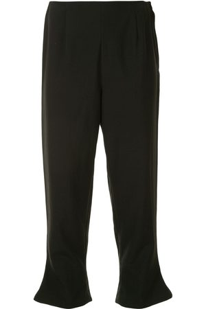 Comme des Garçons Flared hems cropped trousers