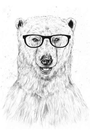 Balazs Solti Polar Bear And Glasses Men's T-Shirt