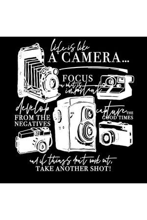 By IWOOT Life Is Like A Camera Women's T-Shirt