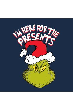 Dr. Seuss The Grinch Im Here for The Presents Women's Christmas T-Shirt