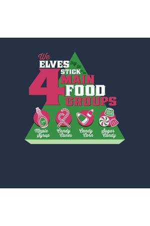Elf Food Groups Women's Christmas Sweatshirt