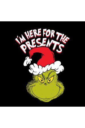 Dr. Seuss The Grinch Im Here for The Presents Women's Christmas Sweatshirt