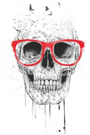 Balazs Solti Skull And Glasses Men's T-Shirt