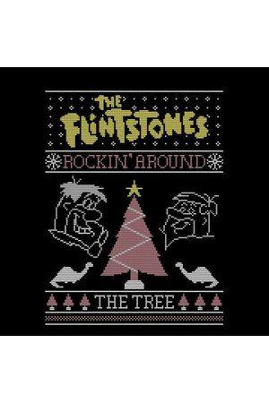The Flintstones Flintstones Rockin Around The Tree Women's Christmas Sweatshirt