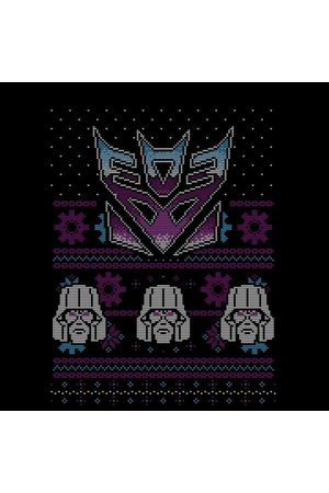 TRANSFORMERS Decepticons Classic Ugly Knit Women's Christmas T-Shirt