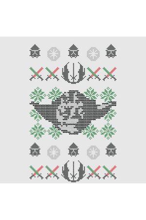 STAR WARS Yoda Face Knit Women's Christmas T-Shirt