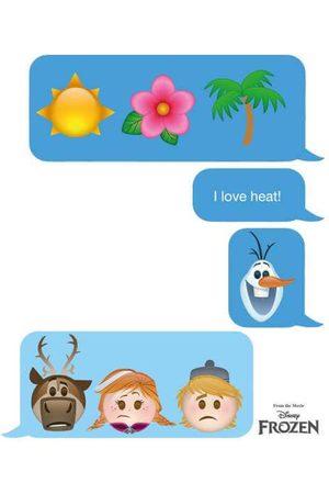 Disney Frozen I Love Heat Emoji Women's Sweatshirt