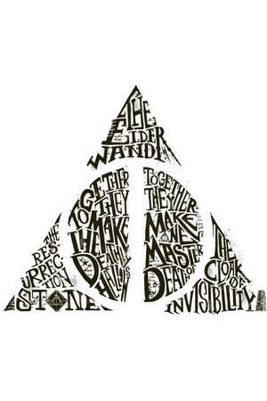 Harry Potter Deathly Hallows Text Women's T-Shirt