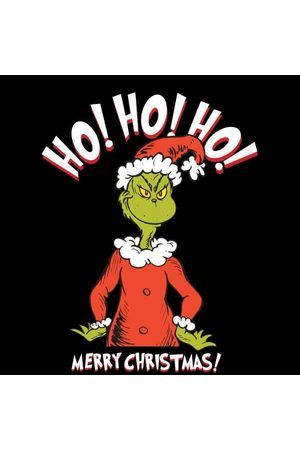 Dr. Seuss The Grinch Ho Ho Ho Smile Women's Christmas Sweatshirt
