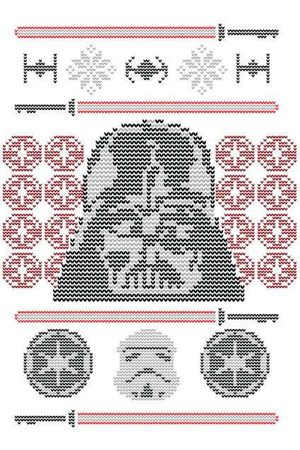 STAR WARS Darth Vader Face Knit Women's Christmas Sweatshirt