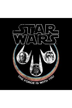 STAR WARS The Force Is With You Retro Heads Women's T-Shirt