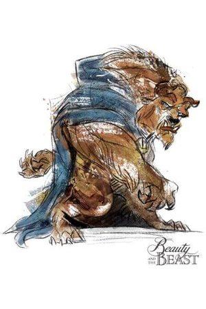 Disney Beauty And The Beast Sketch Women's T-Shirt
