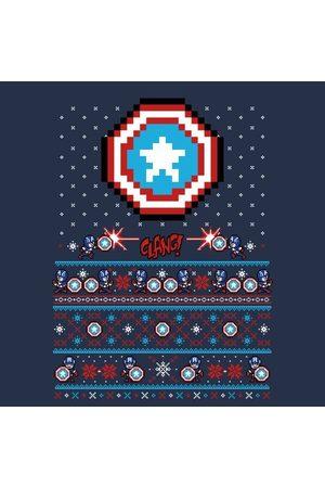 Marvel Avengers Captain America Pixel Art Women's Christmas T-Shirt