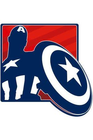 Marvel Avengers Assemble Captain America Outline Badge Women's T-Shirt