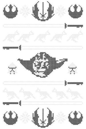 STAR WARS Yoda Sabre Knit Christmas Sweatshirt