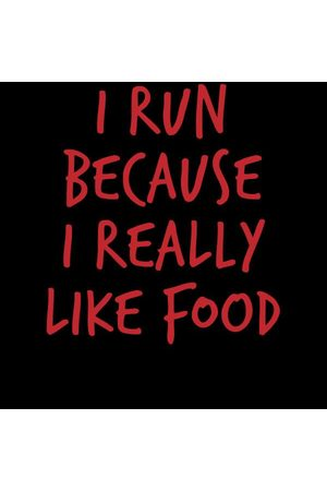 By IWOOT I Run Because I Really Like Food Women's T-Shirt