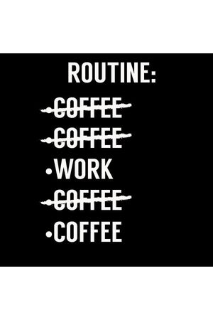 By IWOOT Coffee Routine Women's T-Shirt