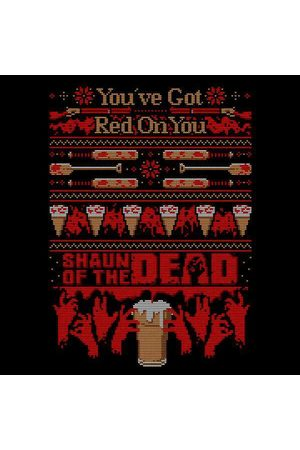 Shaun of the Dead You've Got Red On You Christmas Women's Sweatshirt