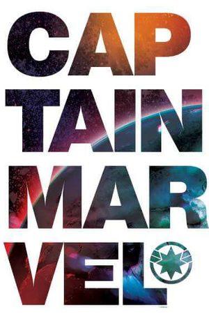 Marvel Captain Space Text Sweatshirt