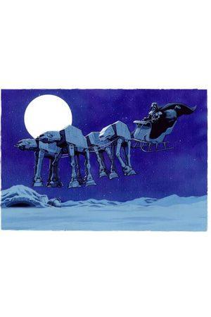 STAR WARS AT-AT Darth Vader Sleigh Women's Christmas T-Shirt