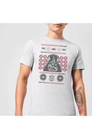 STAR WARS Christmas Darth Vader Face Sabre Knit T-Shirt