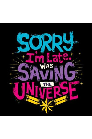 Marvel Captain Sorry I'm Late Women's T-Shirt