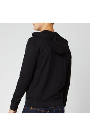 Armani Men Sweatshirts - Men's Small Logo Zip Through Hoodie