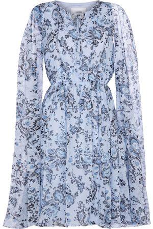 Erdem Austin silk voile cape minidress