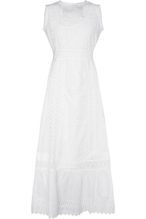 Etro Women Maxi Dresses - Broderie anglaise cotton maxi dress