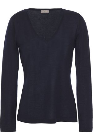 N.PEAL Women Jumpers - Woman Cashmere Sweater Navy Size L