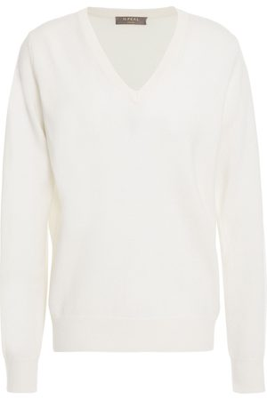 N.PEAL Women Jumpers - Woman Cashmere Sweater Ivory Size L