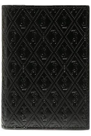 Saint Laurent Perforated leather cardholder