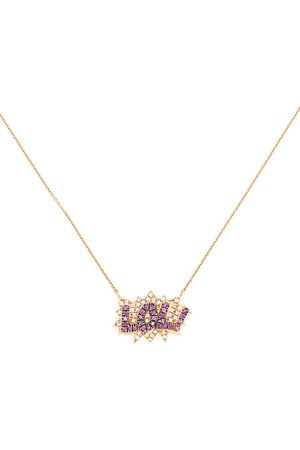 Diane Kordas 18kt rose gold diamond Bae necklace