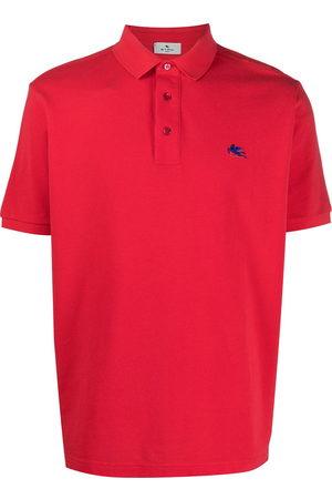 ETRO Men Polo Shirts - Embroidered-logo short-sleeved polo shirt