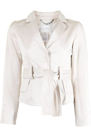 Céline Pre-owned belted single-breasted blazer - Neutrals