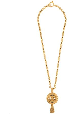 CHANEL 1994 CC mirror pendant long necklace