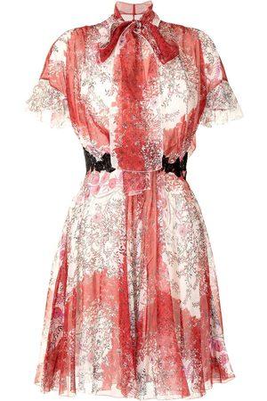 Giambattista Valli Flutter-sleeve silk dress